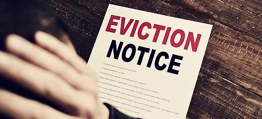 eviction notice left by eviction movers NJ