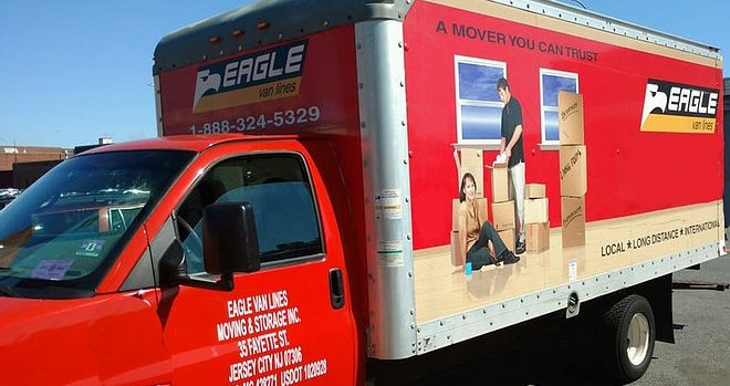 the truck of local movers NJ